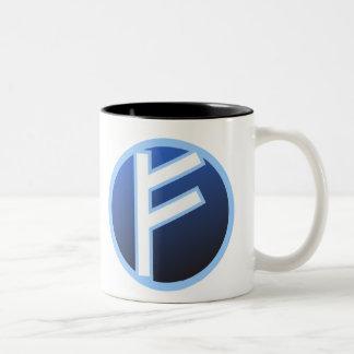 Fehu Feoh Rune Two-Tone Coffee Mug