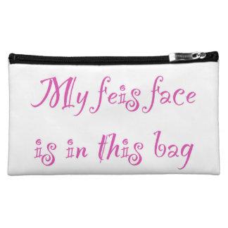 Feis Face - medium Irish dance cosmetics bag Cosmetic Bags