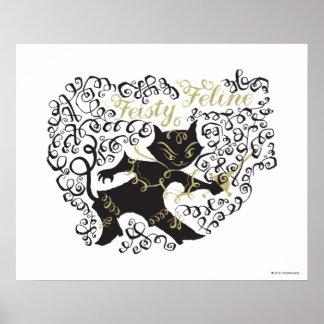 Feisty Feline Poster