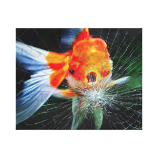 Feisty Gold Fish Canvas Print
