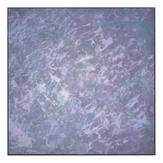Feisty Metallic Purple Abstract Splatter Funky Fun