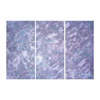 Feisty Metallic Purple Abstract Splatter Funky Fun Stretched Canvas Prints