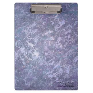 Feisty Office | Purple Lavender Splatter Abstract Clipboard
