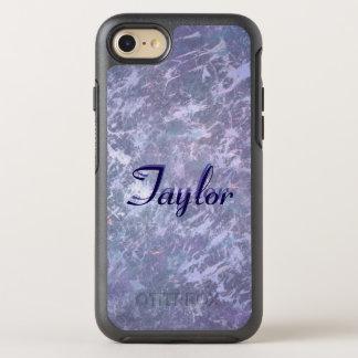 Feisty Stylish Monogram Metallic Purple Splatter OtterBox Symmetry iPhone 8/7 Case