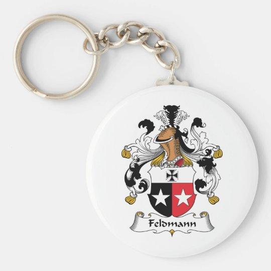 Feldmann Family Crest Basic Round Button Key Ring