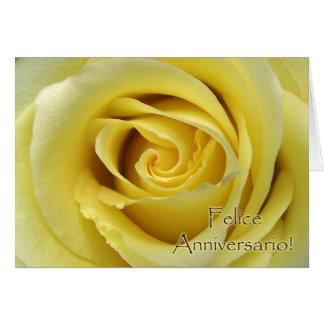 Felice Anniversario, Italian Wedding Anniversary Greeting Card