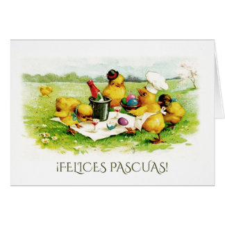 Felices Pascuas. Easter Greeting Cards in Spanish