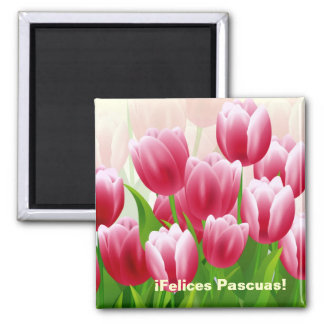 Felices Pascuas. Spanish Easter Gift Magnet
