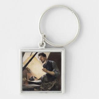 Felicien Rops  in his studio Key Ring