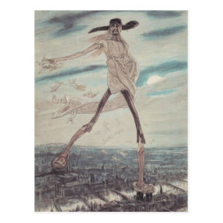Felicien Rops: The Satanic. Satan Sowing Tares Postcard