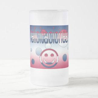 Felicitaciones America Flag Colors Pop Art Coffee Mugs