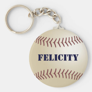 Felicity Baseball Keychain by 369MyName