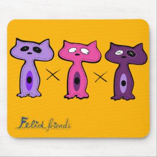 Felid friends1 mouse pads