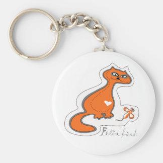 Felid friends keychain
