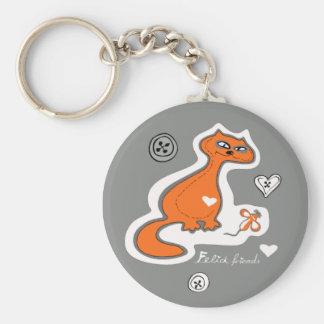 Felid friends key chain