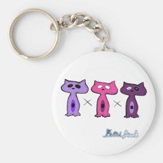 Felid friends keychains