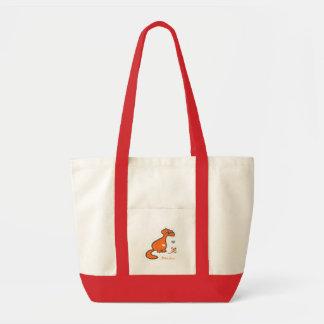 Felid friends canvas bag