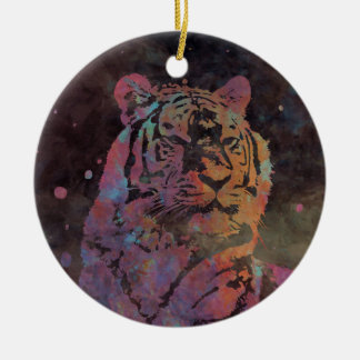 Felidae Round Ceramic Decoration