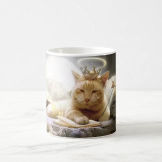 Feline angel mug. basic white mug