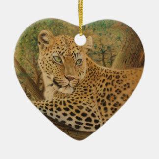 Feline Beauty Ceramic Heart Decoration