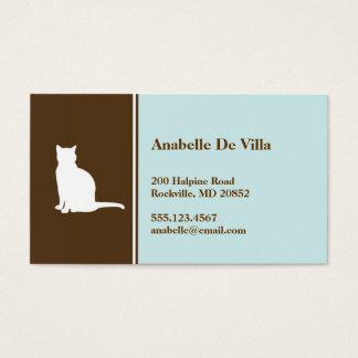 Feline cat  blue brown pet personal calling card