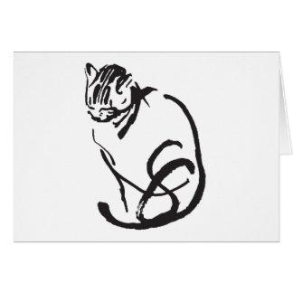 Feline Design Greeting Card
