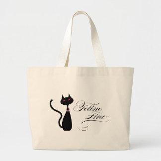 Feline Fine Jumbo Tote Bag