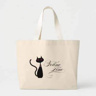 Feline Fine Large Tote Bag