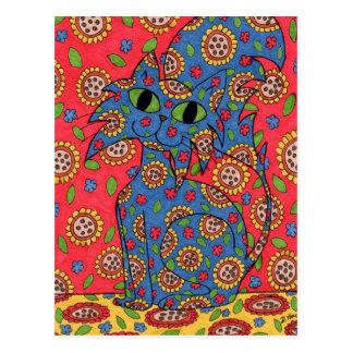 Feline Flower Frenzy Post Cards