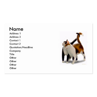 Feline Friends Profile Card Pack Of Standard Business Cards
