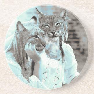 Feline Girls Drink Coasters