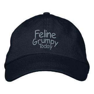 Feline Grumpy Today Embroidered Baseball Cap