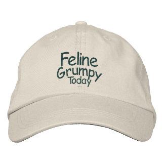 Feline Grumpy Today Embroidered Baseball Caps