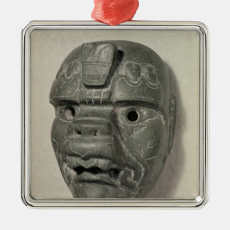 Feline mask of a man, from Oaxaca, Pre-Columbian Christmas Ornament