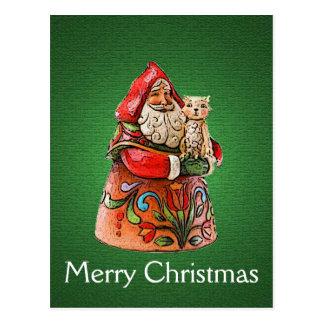 Feline Navidad Christmas Postcard