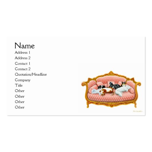 Feline Royalty Business Card
