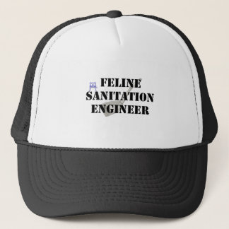 Feline Sanitation Engineer Trucker Hat
