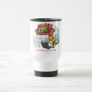 Feline Social Media Funny Coffee Mugs