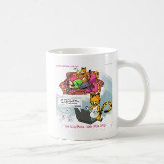 Feline Social Media Funny Coffee Mug