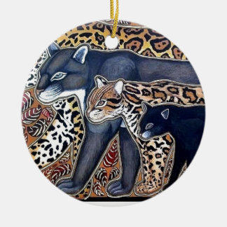 Felines of Costa Rica - Big cats Christmas Ornament