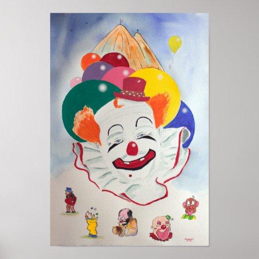 Felix Adler Clown Print