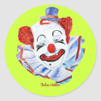 Felix Adler Clown Sticker