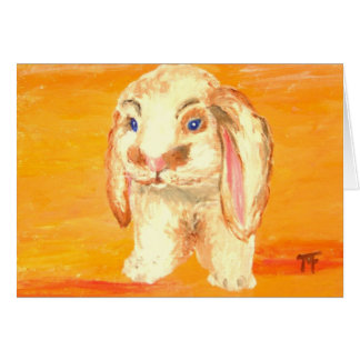"""Felix"" - Bunny Greeting Card"