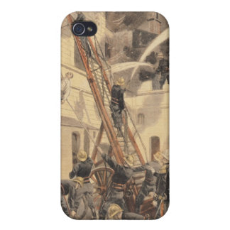 Felix Faure with the firemen iPhone 4/4S Covers