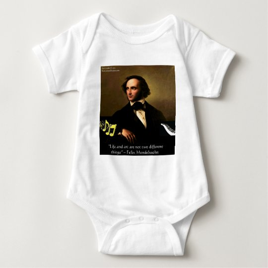 Felix Mendelssohn Life Is Art Quote Gifts &