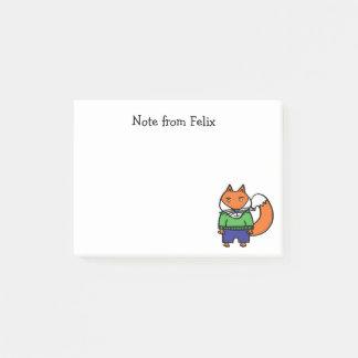 Felix the Fox Post-it Notes