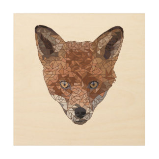 Felix the Fox Wood Print