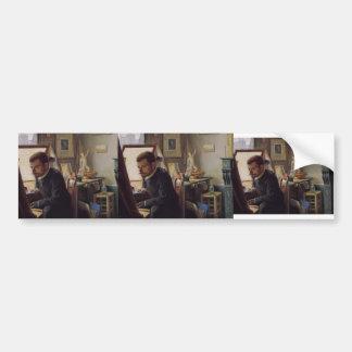 Felix Vallotton - Felix Jasinski in His Studio Bumper Sticker