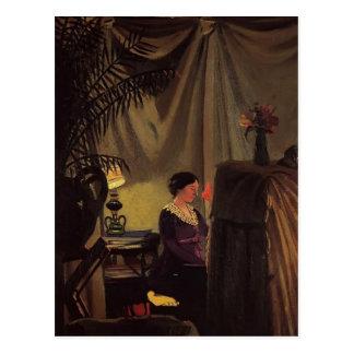 Felix Vallotton - Gabrielle Vallotton at the Piano Postcard