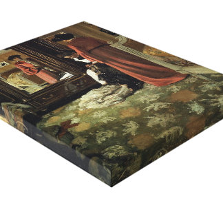 Felix Vallotton -Interior,Bedroom with Two Figures Canvas Prints